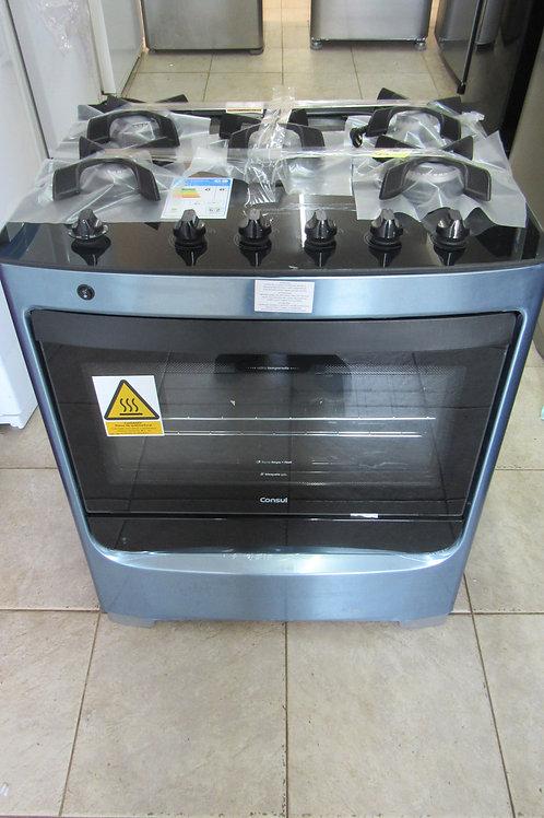 Fogão de Piso Consul CFS5VAR 5 Bocas Acabamento Inox Acendimento Automático