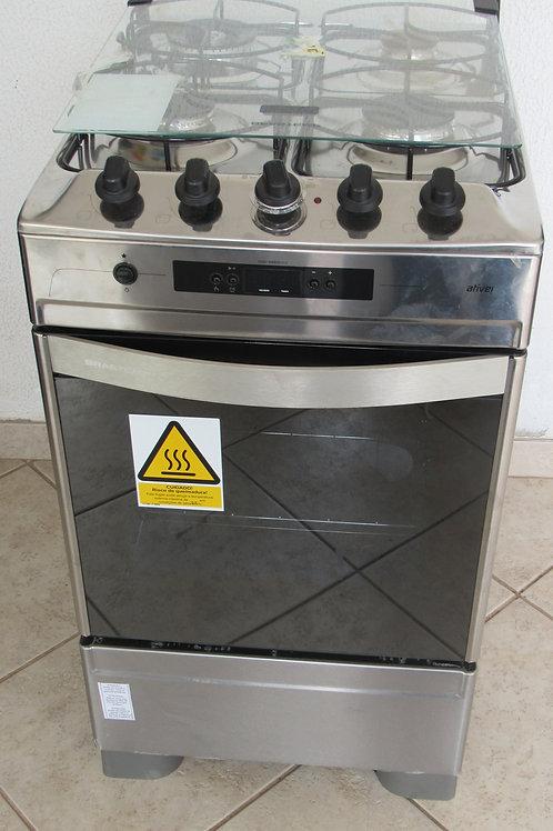 -ºFogão de Piso Brastemp Ative Timer Grill BF150AR 4 Bocas
