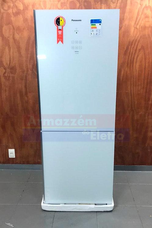 Geladeira Panasonic NR-BB53GV3  Inverse 425 Litros Econavi White Glass