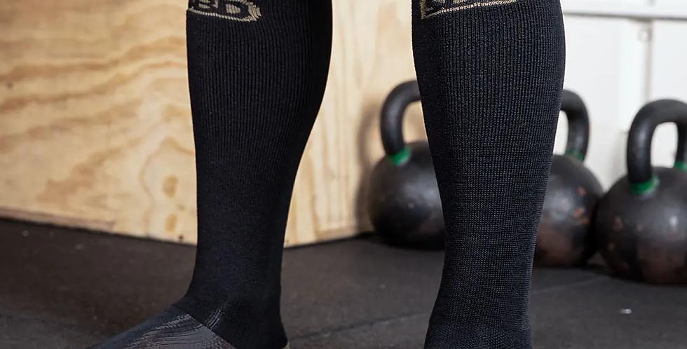 Endure Black Deadlift Socks