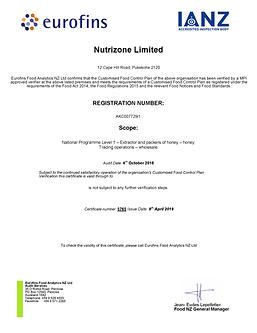 NP cert_Nutrizone_Limited Eurofin Oct 20