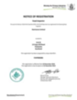 Registration Certificate FIMP006086 2018
