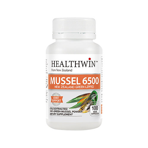 MUSSEL 6500 NEW ZEALAND GREEN LIPPED 100 Capsules
