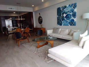 Living Room Condo B at Sea Houz