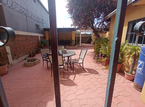 BACK PATIO WITH BBQ