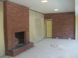 Brick Fireplace and Wall