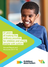 Ambitious about Autism's 2017–18 Annual Report