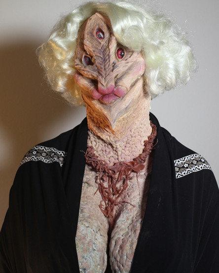 Alien Madam Silicone and Slipcast Latex Prosthetics