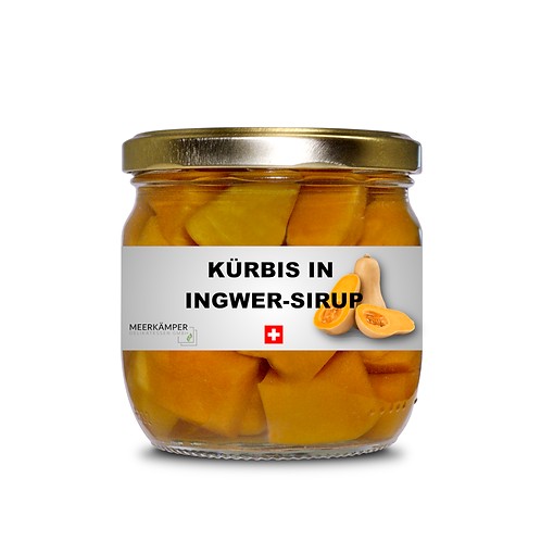 Kürbis in Ingwer-Sirup - 360 ML.