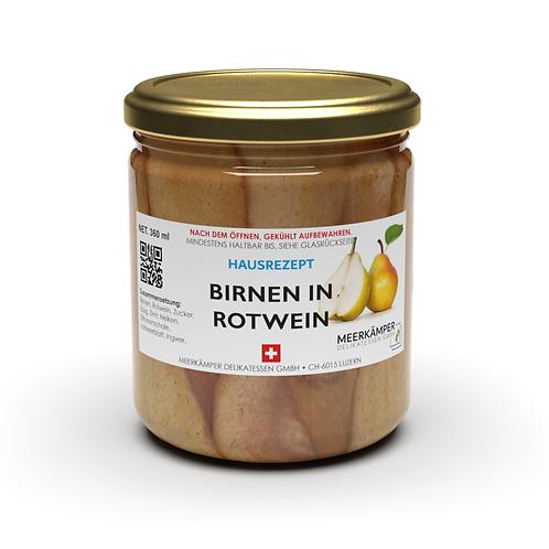 Birnen in Rotwein - 360 ml