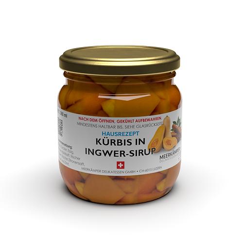 Kürbis in Ingwer-Sirup - 360 ml
