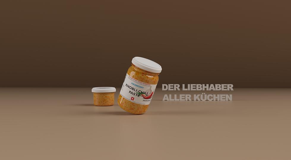 Knobli Chili Paste 212 ml Szene 3D 4K  Der Liebhaber aller Küchen.png