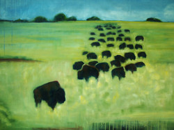 "36""x48"", oil on canvas"