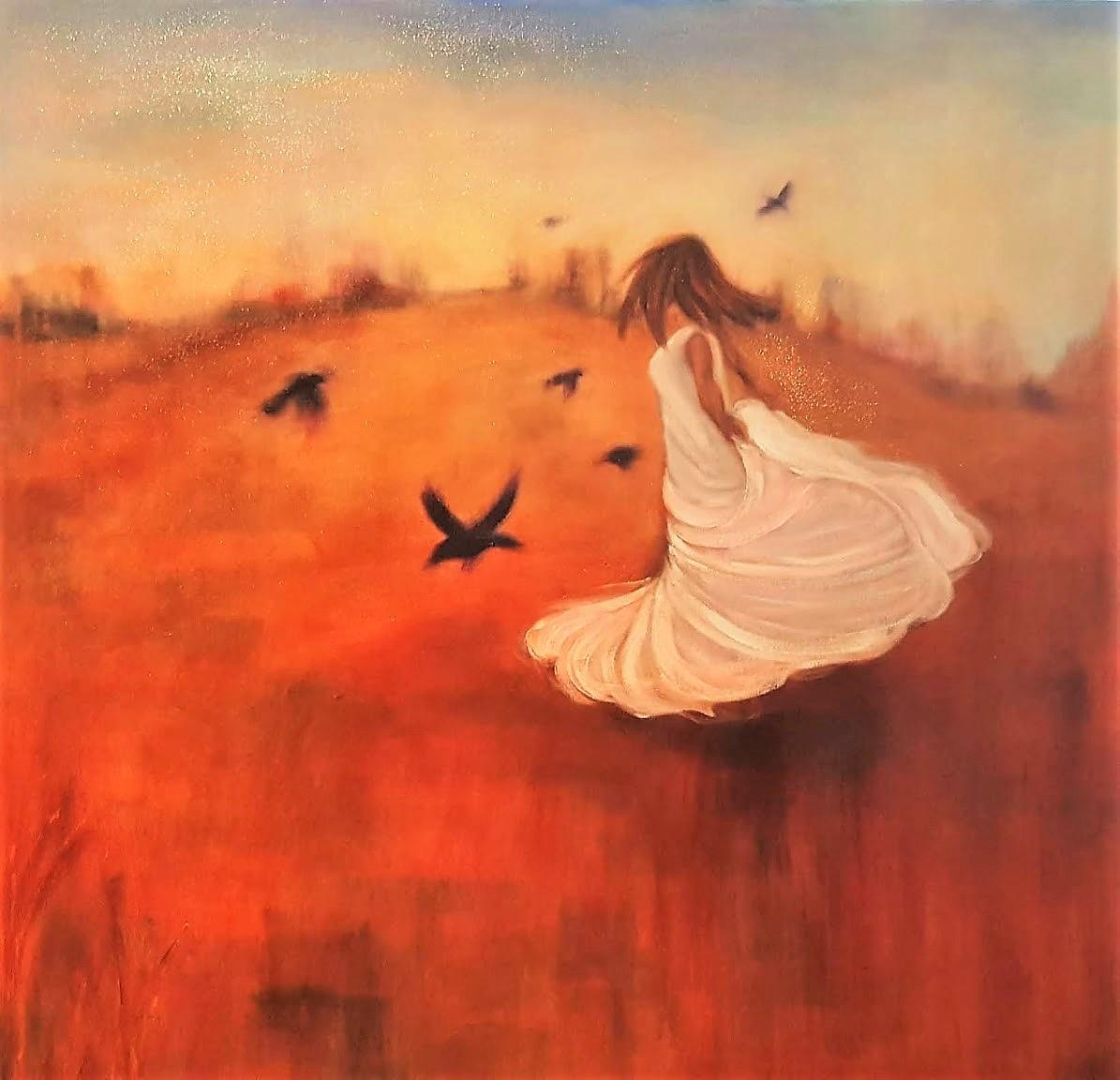 "30""x30"", oil on canvas"