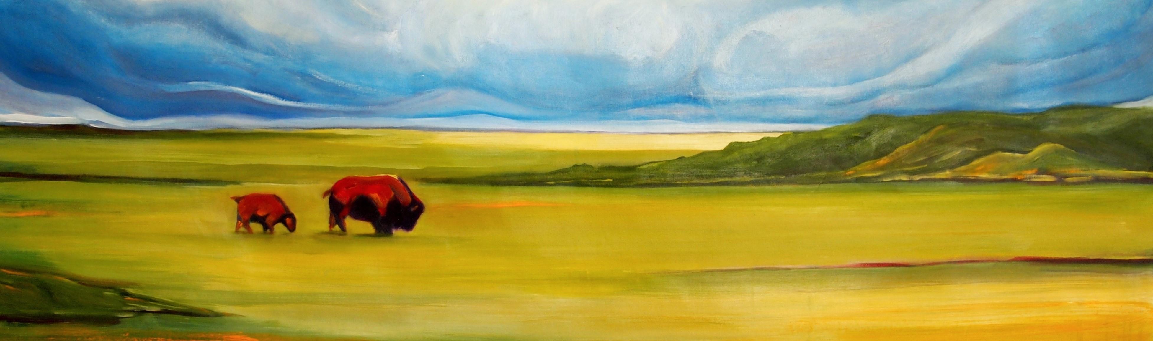 "24""x60"", oil on canvas"