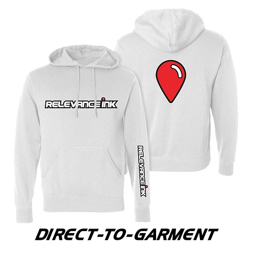 Custom White Cotton Hoodie (3 Placements) - DTG