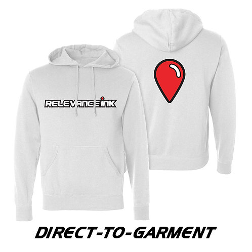 Custom White Cotton Hoodie (2 Placements) - DTG