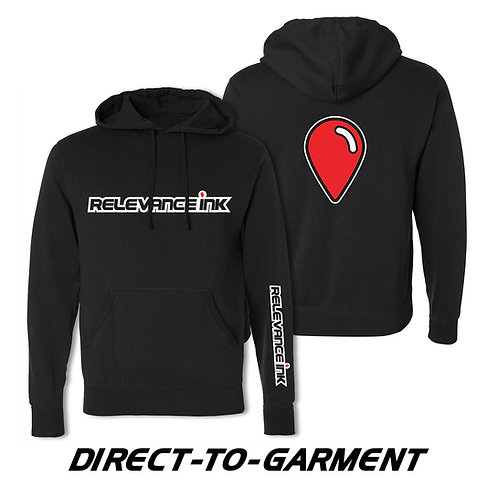 Custom Black Cotton Hoodie (3 Placements) - DTG