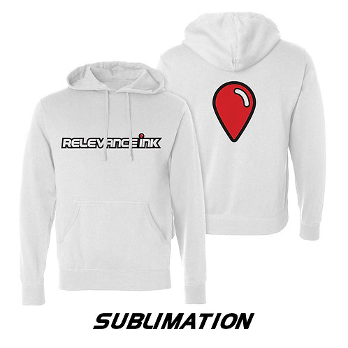 Custom White Poly Hoodie (2 Placements) - Sublimation