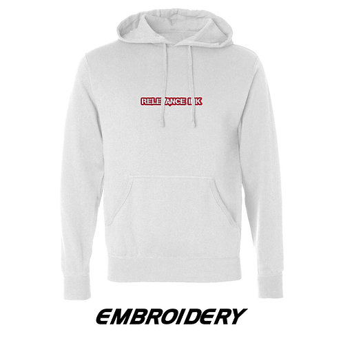 Custom White Hoodie (1 Placement) - Embroidery