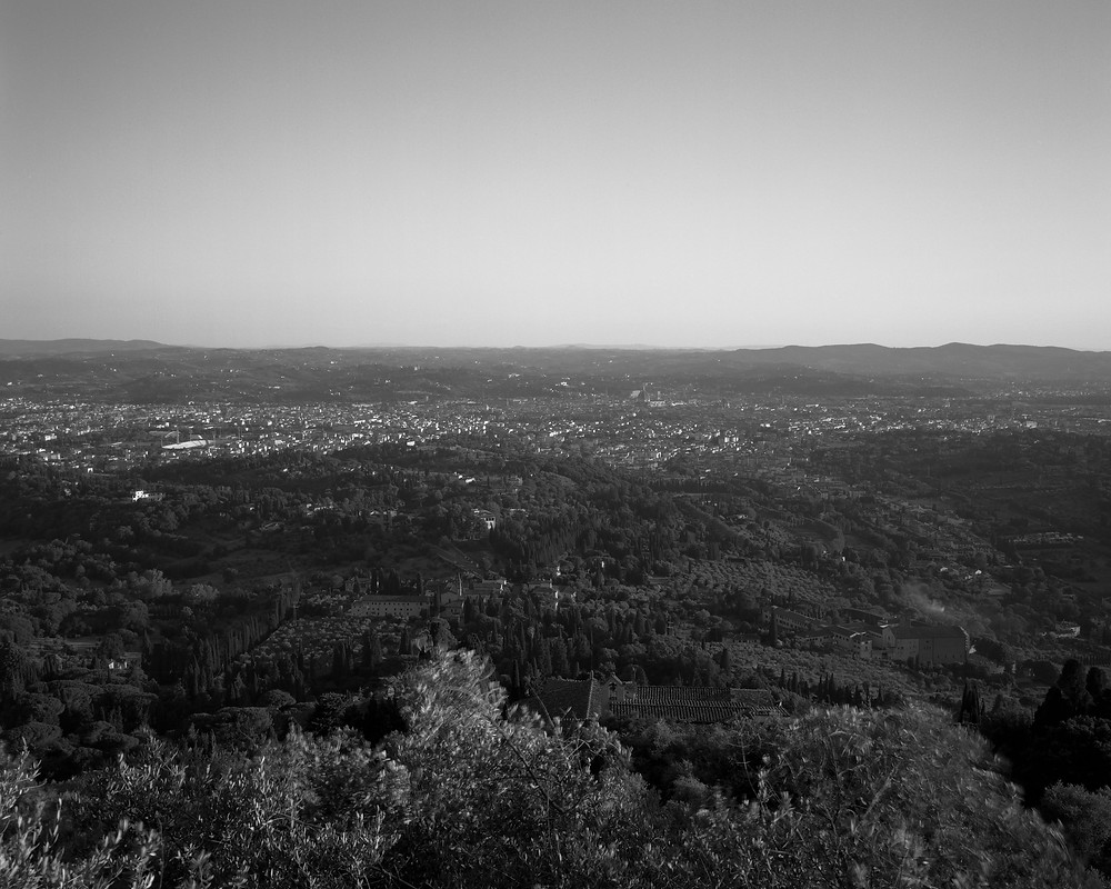 Florence Italy from Fiesole, 2018, Tachihara 4x5 Field Camera, T-Max 400 Film