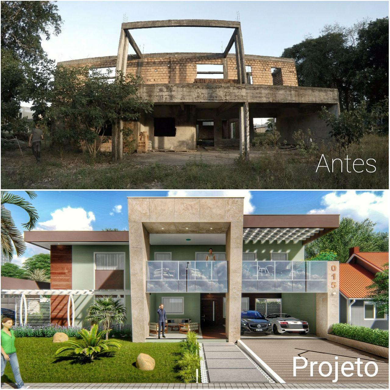 Antes e Projeto