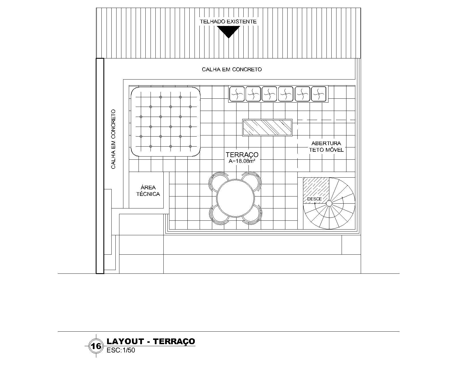 Layout Terraço