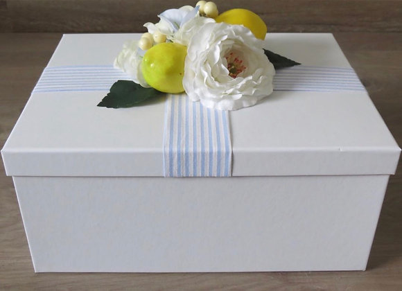 Large Gift Boxes with Flowers and Lemons