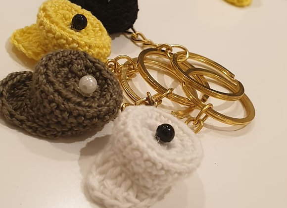 Crochet Caps Key Chains