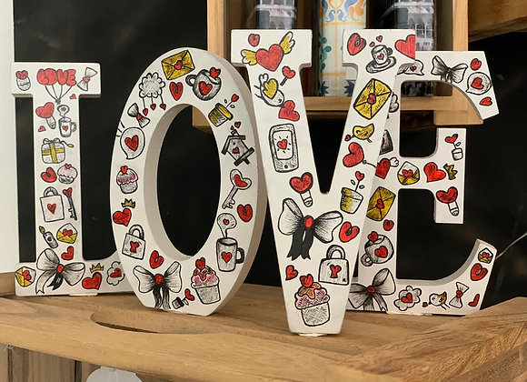 Love Wooden decorative letters -big