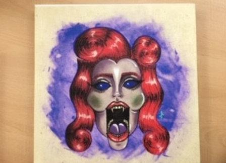 Dracula Paintings On Canvas (Medium)
