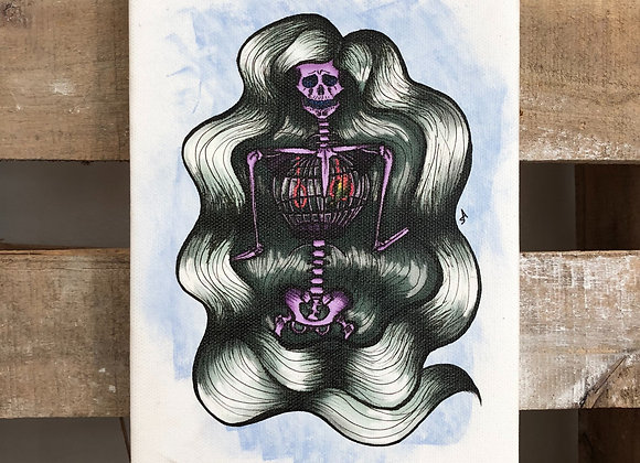 Lady Skeleton Paintings On Canvas (small)