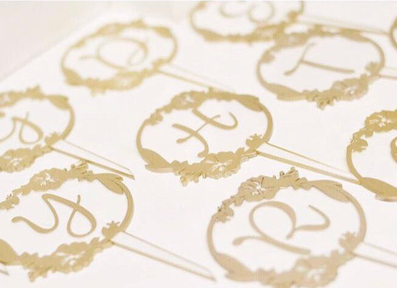 Letters Cake Toppers
