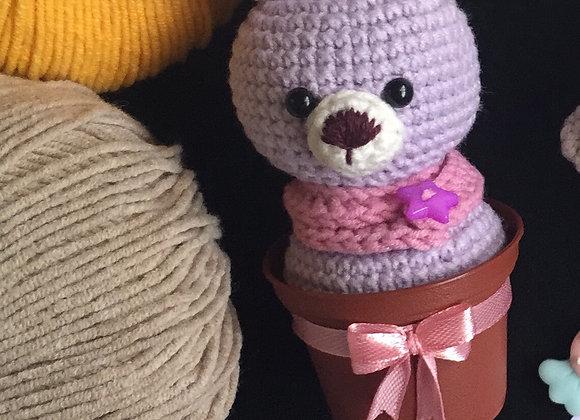 A Rabbit in a Pot Amigurumi Doll