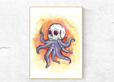 Octopus Paintings On Canvas (Medium)