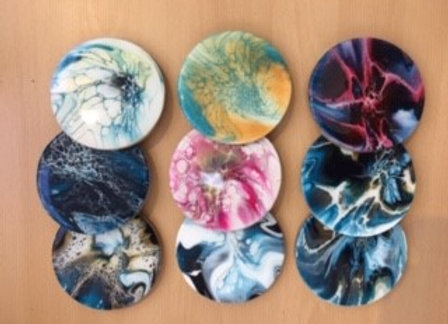 Resin / Fluid Art Coasters