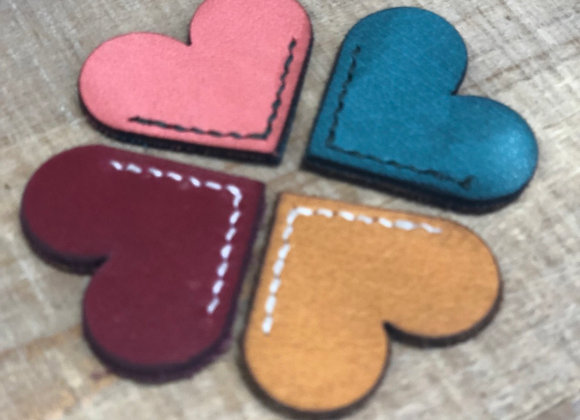 Leather Book Marks (Small Hearts)