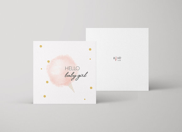 Hello Baby Girl Greeting Card