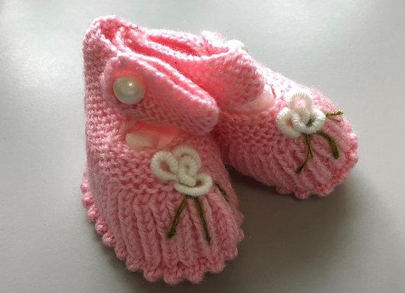 Baby Crochet Booties (Ankle Tie)
