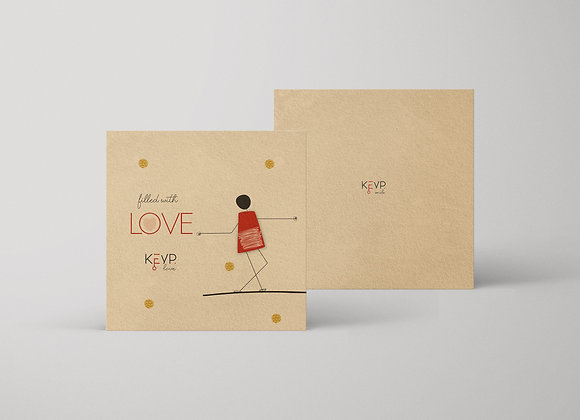 Filled with Love Greeting Card
