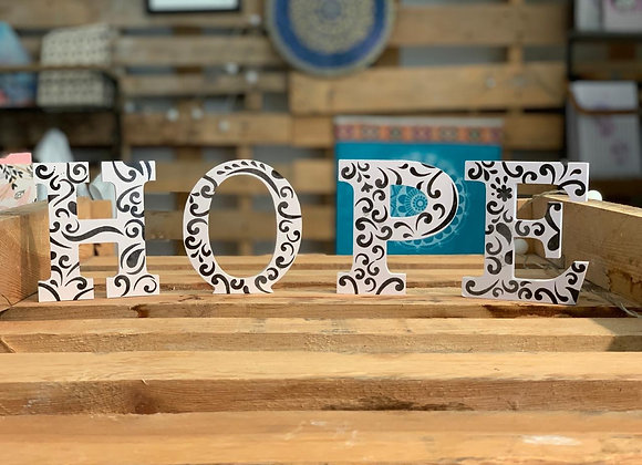Hope - wooden decorative letters - small