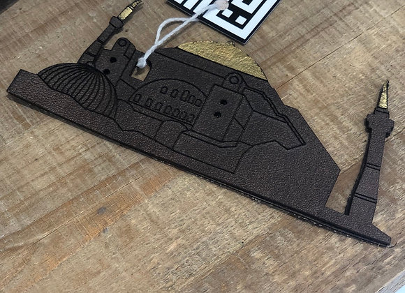 Brown Mosque Leather Book Mark