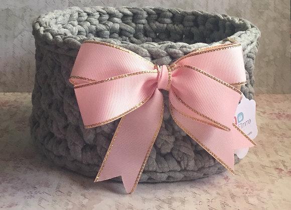 Crochet Grey Basket