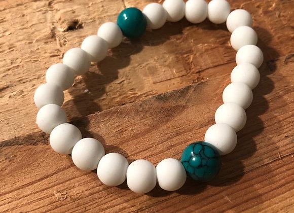 White Marble Bracelets