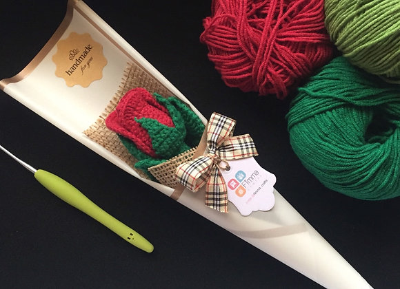 Red Rose Crochet (small)