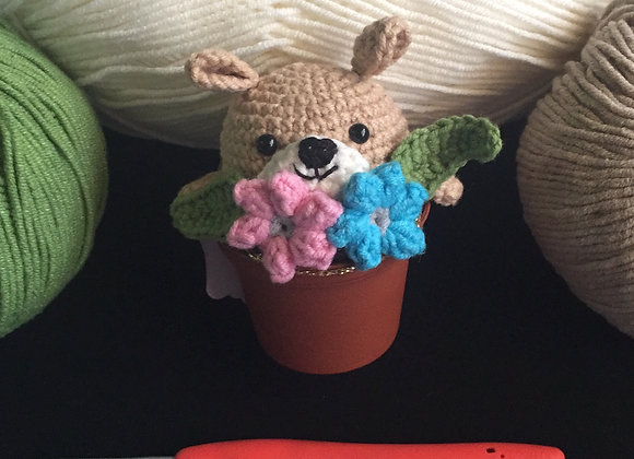 Amigurumi Bear Head in a Pot