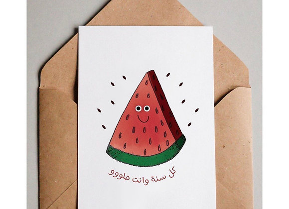 Watermelon Cards (medium size)