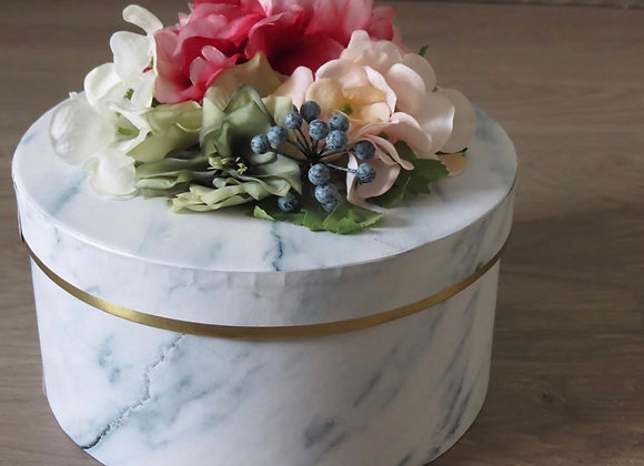 Large Rounded Gift Boxe with Flowers