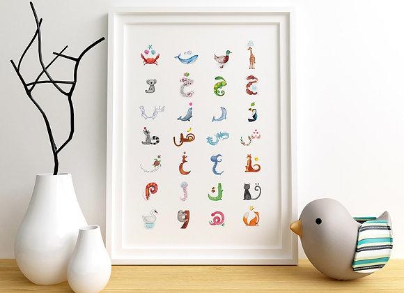 Alphabet Poster (Framed)