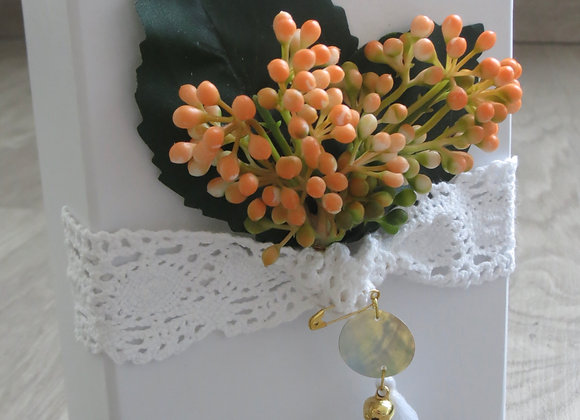 Small Gift Box with Orange Blooms